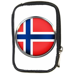 Norway Country Nation Blue Symbol Compact Camera Cases