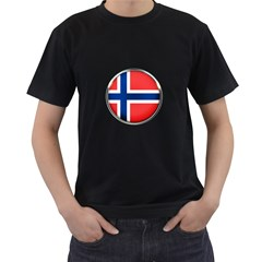 Norway Country Nation Blue Symbol Men s T Shirt (black)