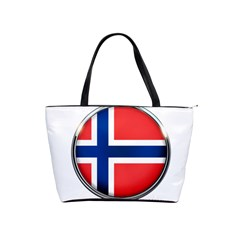 Norway Country Nation Blue Symbol Shoulder Handbags