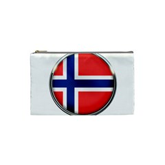 Norway Country Nation Blue Symbol Cosmetic Bag (small)