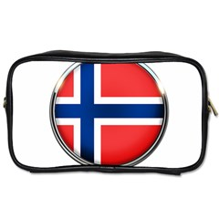 Norway Country Nation Blue Symbol Toiletries Bags 2 Side
