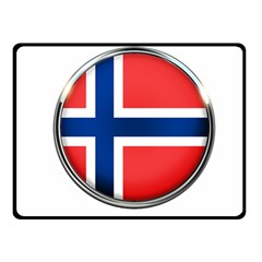 Norway Country Nation Blue Symbol Fleece Blanket (small)