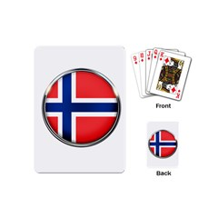 Norway Country Nation Blue Symbol Playing Cards (mini)