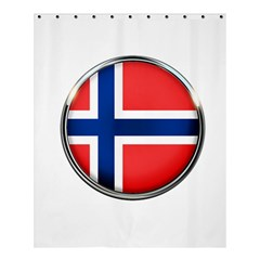 Norway Country Nation Blue Symbol Shower Curtain 60  X 72  (medium)