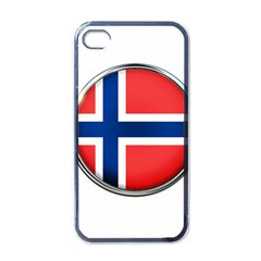 Norway Country Nation Blue Symbol Apple Iphone 4 Case (black)