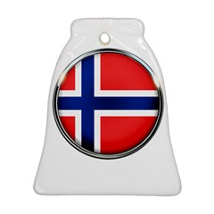 Norway Country Nation Blue Symbol Bell Ornament (two Sides)