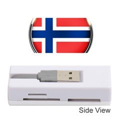 Norway Country Nation Blue Symbol Memory Card Reader (stick)