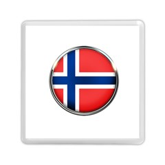 Norway Country Nation Blue Symbol Memory Card Reader (square)