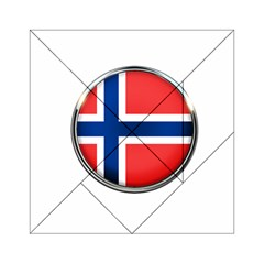 Norway Country Nation Blue Symbol Acrylic Tangram Puzzle (6  X 6 ) by Nexatart