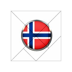Norway Country Nation Blue Symbol Acrylic Tangram Puzzle (4  X 4 ) by Nexatart