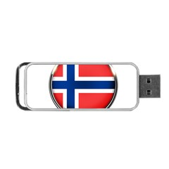Norway Country Nation Blue Symbol Portable Usb Flash (two Sides) by Nexatart