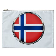 Norway Country Nation Blue Symbol Cosmetic Bag (xxl)