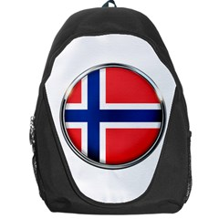 Norway Country Nation Blue Symbol Backpack Bag