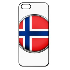 Norway Country Nation Blue Symbol Apple Iphone 5 Seamless Case (black)