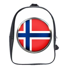 Norway Country Nation Blue Symbol School Bag (xl)