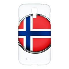 Norway Country Nation Blue Symbol Samsung Galaxy S4 I9500/i9505 Hardshell Case