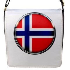 Norway Country Nation Blue Symbol Flap Messenger Bag (s)