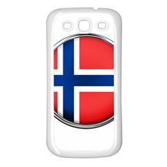 Norway Country Nation Blue Symbol Samsung Galaxy S3 Back Case (white)