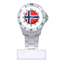 Norway Country Nation Blue Symbol Plastic Nurses Watch