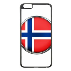 Norway Country Nation Blue Symbol Apple Iphone 6 Plus/6s Plus Black Enamel Case