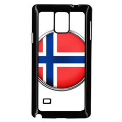 Norway Country Nation Blue Symbol Samsung Galaxy Note 4 Case (black)