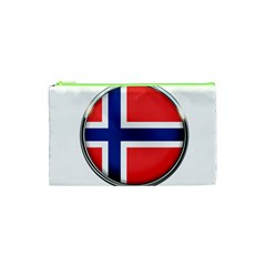 Norway Country Nation Blue Symbol Cosmetic Bag (xs)