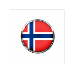 Norway Country Nation Blue Symbol Small Satin Scarf (square)