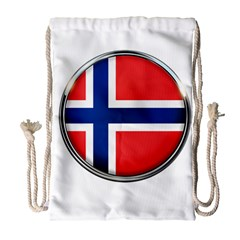 Norway Country Nation Blue Symbol Drawstring Bag (large)