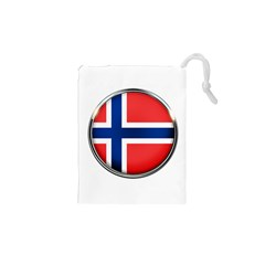 Norway Country Nation Blue Symbol Drawstring Pouches (xs)