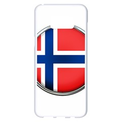 Norway Country Nation Blue Symbol Samsung Galaxy S8 Plus White Seamless Case