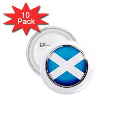 Scotland Nation Country Nationality 1 75  Buttons (10 Pack)
