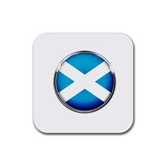 Scotland Nation Country Nationality Rubber Square Coaster (4 Pack)