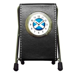 Scotland Nation Country Nationality Pen Holder Desk Clocks