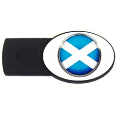Scotland Nation Country Nationality Usb Flash Drive Oval (4 Gb) by Nexatart