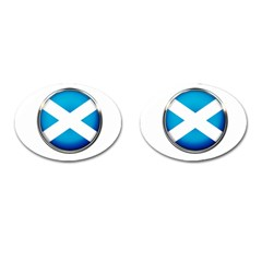 Scotland Nation Country Nationality Cufflinks (oval) by Nexatart