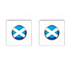 Scotland Nation Country Nationality Cufflinks (square) by Nexatart