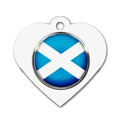 Scotland Nation Country Nationality Dog Tag Heart (one Side)