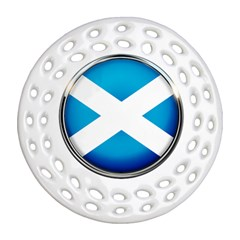 Scotland Nation Country Nationality Round Filigree Ornament (two Sides)