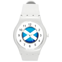 Scotland Nation Country Nationality Round Plastic Sport Watch (m)