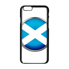 Scotland Nation Country Nationality Apple Iphone 6/6s Black Enamel Case