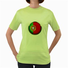 Portugal Flag Country Nation Women s Green T Shirt