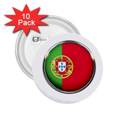 Portugal Flag Country Nation 2 25  Buttons (10 Pack)