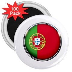 Portugal Flag Country Nation 3  Magnets (100 Pack)
