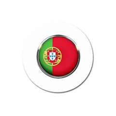 Portugal Flag Country Nation Magnet 3  (round)