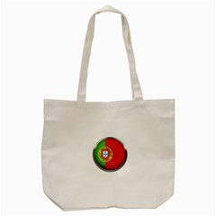 Portugal Flag Country Nation Tote Bag (cream)