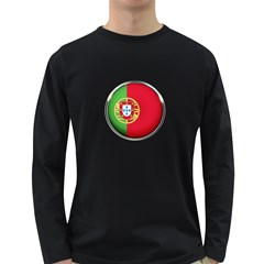 Portugal Flag Country Nation Long Sleeve Dark T Shirts