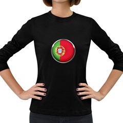 Portugal Flag Country Nation Women s Long Sleeve Dark T Shirts