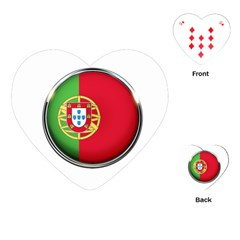 Portugal Flag Country Nation Playing Cards (heart)