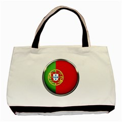 Portugal Flag Country Nation Basic Tote Bag