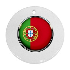 Portugal Flag Country Nation Round Ornament (two Sides)